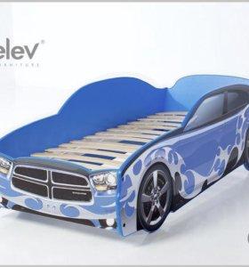 Кровать-машина Додж (цвет синий)
