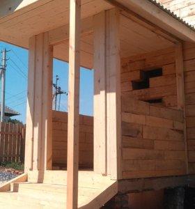 Строительство веранд, домов, бытовок, вагончиков