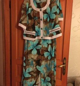 Платье с жакетом новое 62р