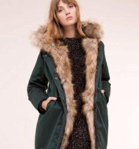 Тёплая зимняя куртка - пальто - парка 42-44, s-m