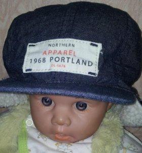 Теплая кепка-шапка H&M (74/80)