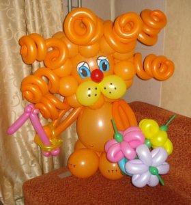 Львенок из воздушных шаров