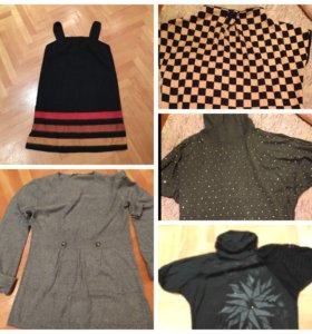 Сарафан шерсть, туника, водолазка, футболка