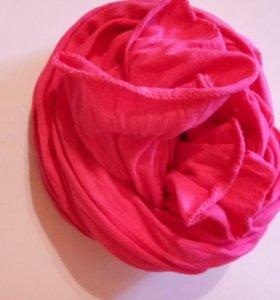 Шарфик розовый