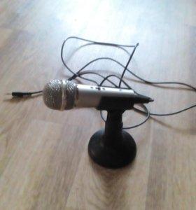 Микрофон lenovo + подставка под микрофон