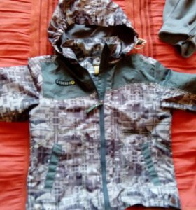 Куртка ветровки+флиска 110-116