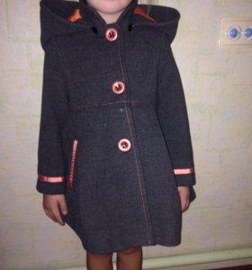 Детское драповое пальто модное