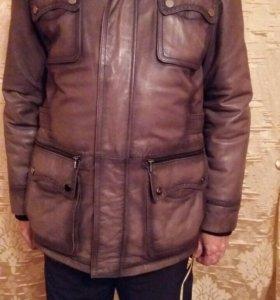 Куртка дубленка кожаная на меху