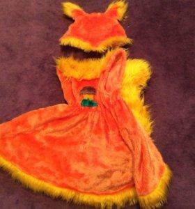 Костюм белка или лиса напрокат карнавальный