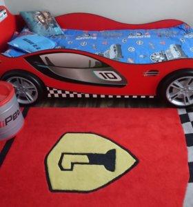 Детская кровать машинка в детскую гоночная машина