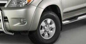 Боковые хром трубы (поднож) Toyota HighLander 2008