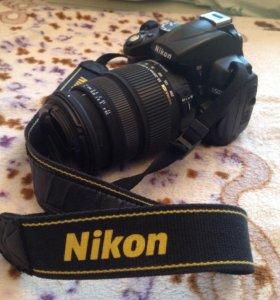 Nikon d5000 с объективом с стабилиз 50-200