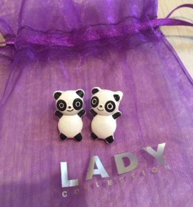 Серьги-панды)+подарок