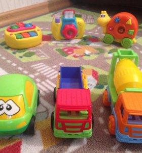 Машинки, музыкальные игрушки