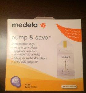 Пакеты Medela для грудного молока