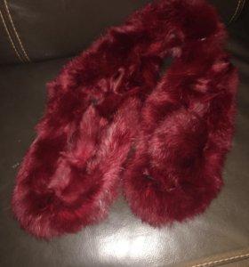 Стильный шарф натуральный мех кролика. Новый
