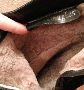 Зимние ботинки замша