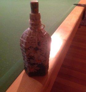 Бутылка декупаж