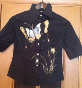Блуза с бабочкой