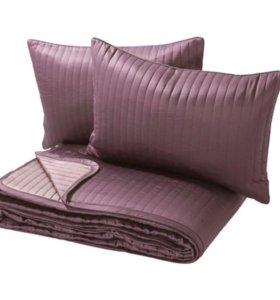 Покрывало Икеа для двуспальной кровати, подушки