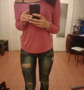Кофта и джинсы bershka
