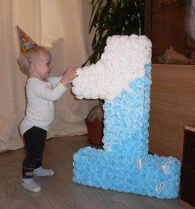 Цифры из салфеток на день рождения