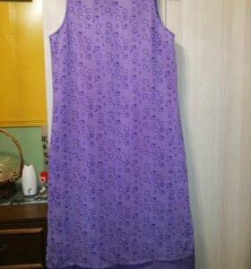 Платье шифоновое на 48-50 р-р