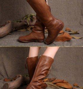 Сапоги новые кожаные весенние