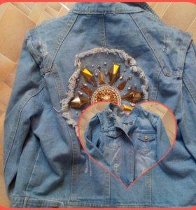 Джинсовая рубашка,новая