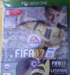 Новый диск в заводской пленке для Xbox one fifa 17
