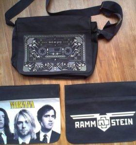 Сумка 3 в 1. Rammstein Nirvana