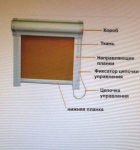 Рулонные шторы( тканевые ролеты )