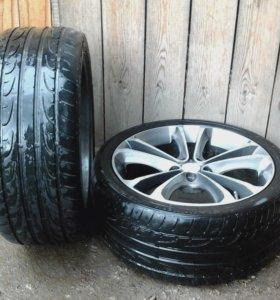 Продам литые диски+шины