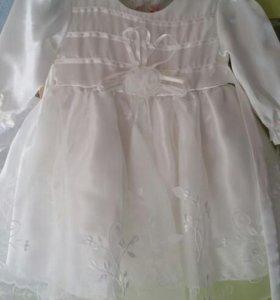 Нарядное платье  с 0-18 месяцев