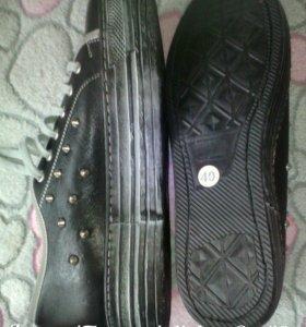Ботинки женские. Новые. Кожаные.
