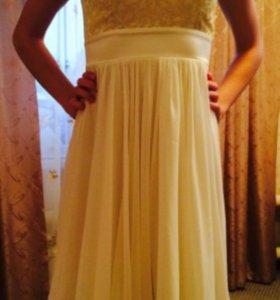 Бело- золотое платье
