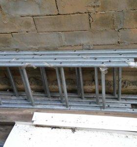 Лестница фасадная из нержавейки