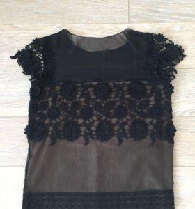 Блуза Alberta Ferretti шелк кружево оригинал 40-42