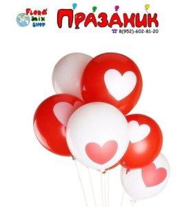 Латексные шары с сердечком