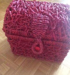 Сундук плетеный