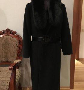 Кашемировое пальто с песцом + 2 ремня в подарок🎁
