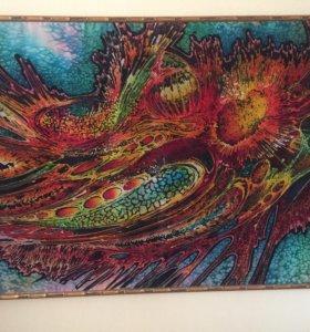 Картины батик на шелке цена за 2 картины