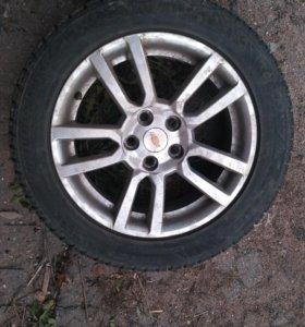 Продается Bridgestone зимняя резина+chevrole диски