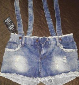 Шорты новые джинсовые.