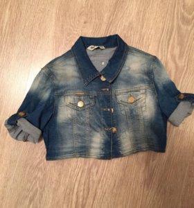Рубашка джинсовая укорочённая