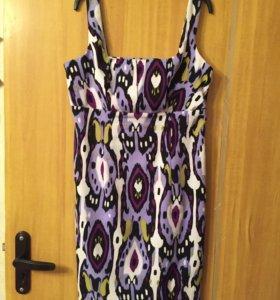 Платье на бретельках цветное