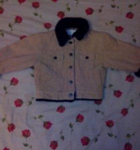 Куртка вельветовая на подкладе токий синтепон