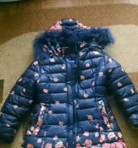 Зимняя куртка( пальто) для девочки