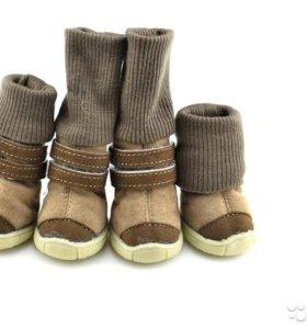 Новые зимние ботиночки для собаки