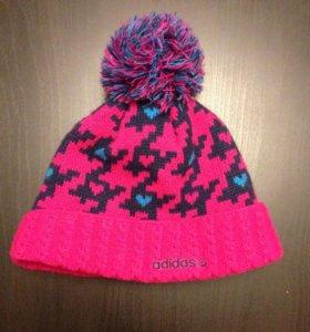 Шапка зимняя теплая , Adidas